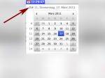 Kalenderwoche in der Menüleiste