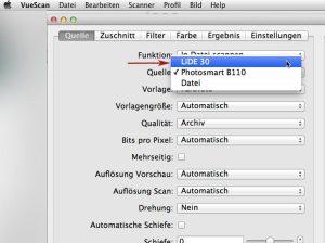 VueScan - CanoScanLIDE 30 auf Mac OS X 10.7 Lion funktioniert