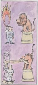 Den Löwen loslassen - kein Kunststück!