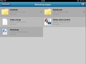 Word auf iPad