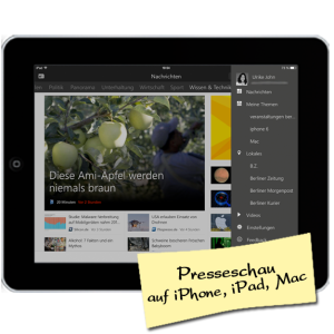 Presseschau mit iPad, iPhone, iMac - Tipp von Mac Privatunterricht Ulrike John
