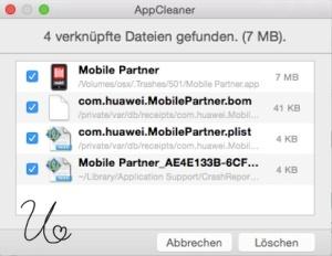 Programme löschen mit AppCleaner